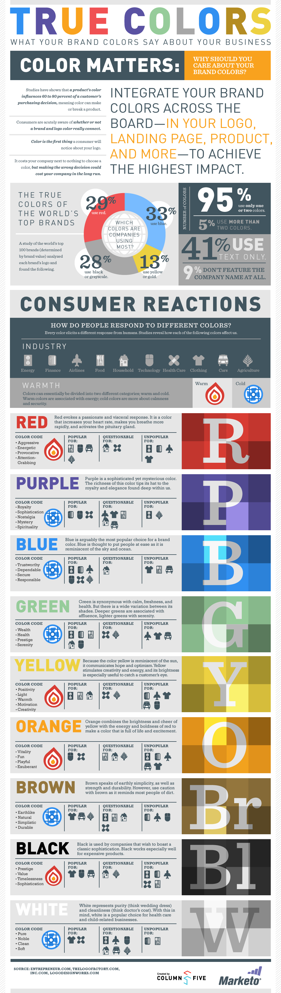 Branding - brand colors infographic